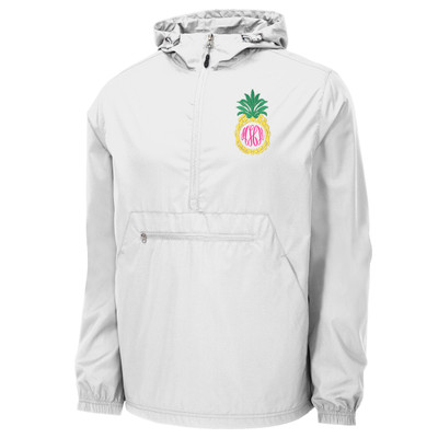 Monogrammed Embroidered Pineapple Anorak