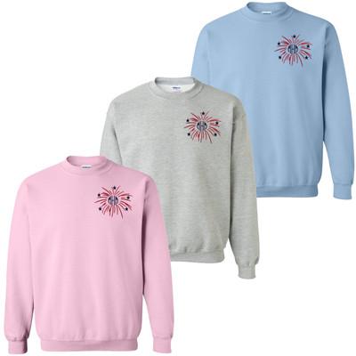 Monogrammed Embroidered Firework Sweatshirt