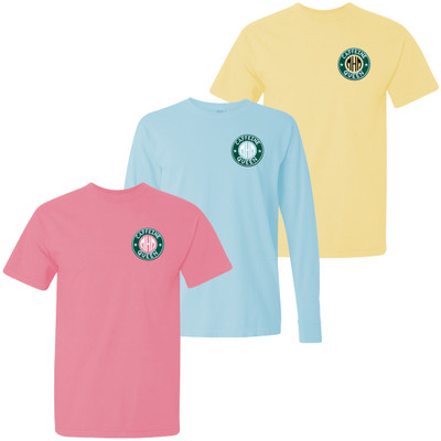 Monogrammed Embroidered Caffeine Queen Comfort Colors T-Shirt