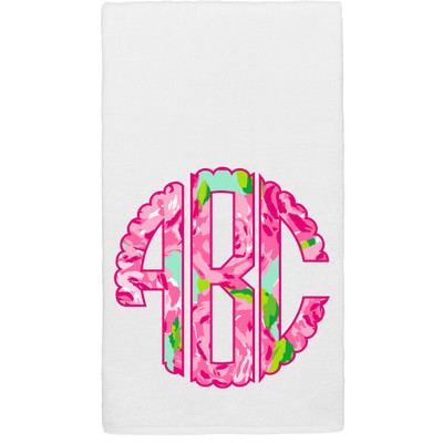 Scallop Lilly Monogram Graphic Beach Towel