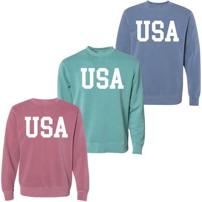 USA Pigment Dyed Crew Neck