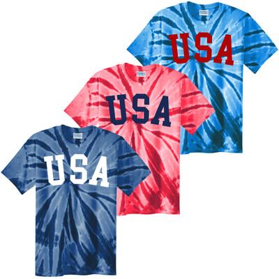 USA Patriotic Tie-Dye Tee