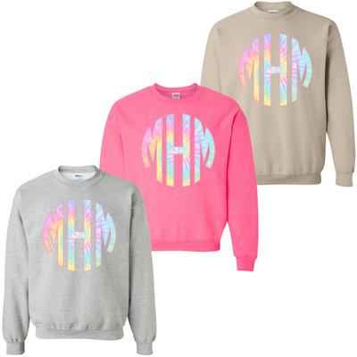Monogrammed Pastel Tie Dye Sweatshirt