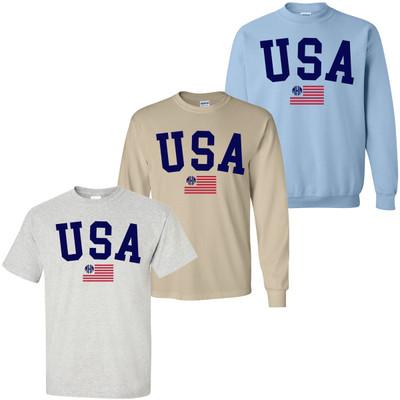 Monogrammed USA Flag Shirt
