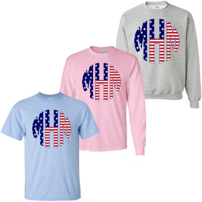 Monogrammed Stars And Stripes Shirt