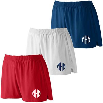 Monogrammed Ladies Junior Fit Jersey Shorts
