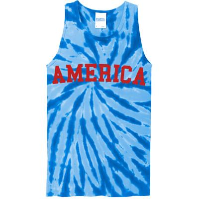 America Tie-Dye Tank - Royal