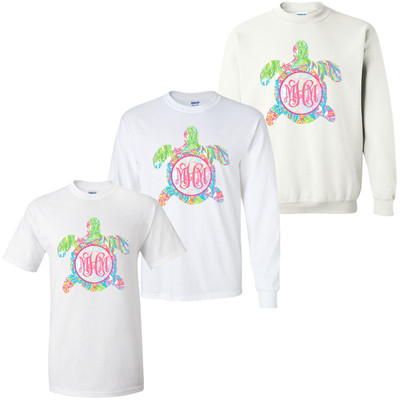 Personalized Lilly Sea Turtle Graphic T-Shirt