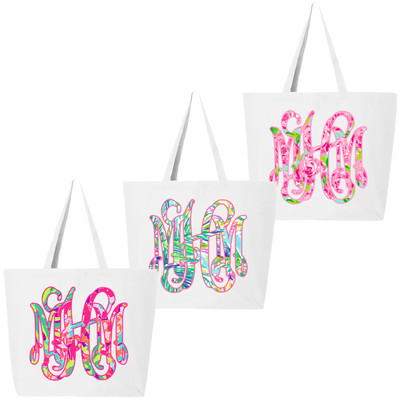 Personalized Lilly Tote Bag - White