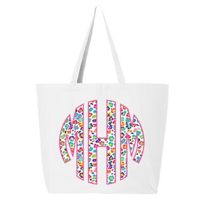 Personalized Fun Leopard Tote Bag - White