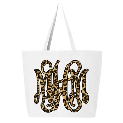 Personalized Leopard Tote Bag - White