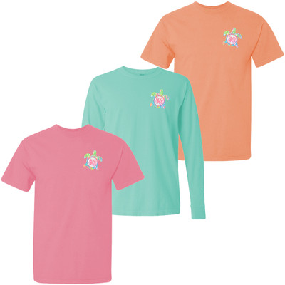 Monogrammed Lilly Sea Turtle Comfort Colors T-Shirt