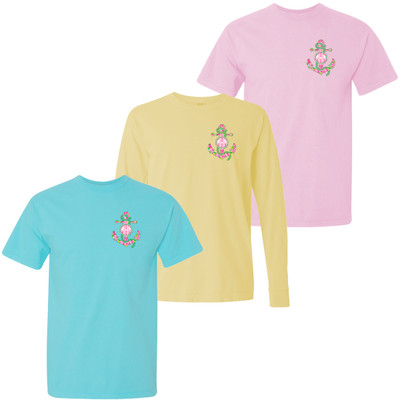 Monogrammed Lilly Anchor Comfort Colors T-Shirt