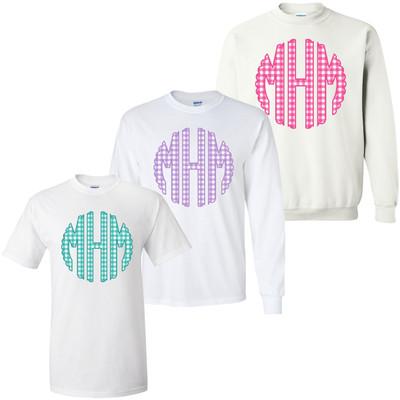 Gingham Monogram Graphic Shirt