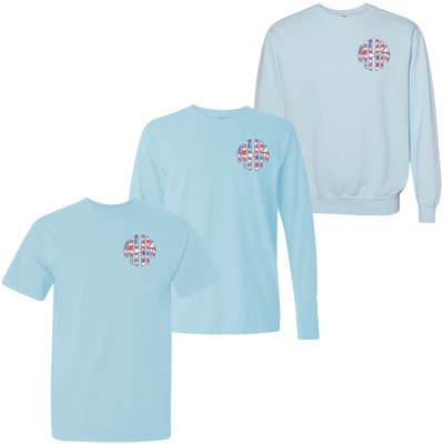Monogrammed Patriotic Lilly Comfort Colors T-Shirt