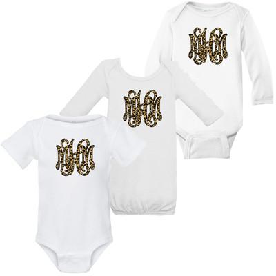 Leopard Monogram Infant Graphic Shirt