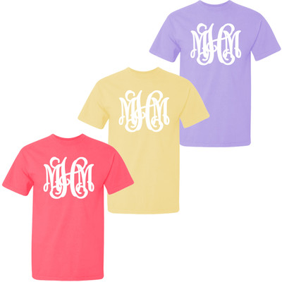 Full Monogrammed Youth Comfort Colors Shirt