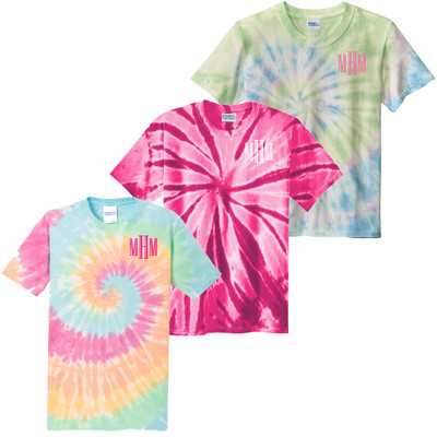 Girls Monogram Tie-Dye Shirt