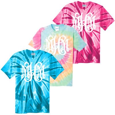 Girls Full Monogram Tie-Dye Shirt