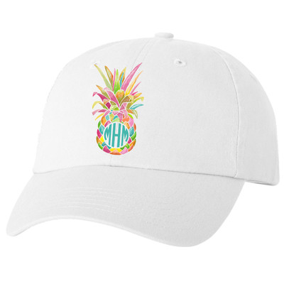 Personalized Rainbow Pineapple Unstructured Cap