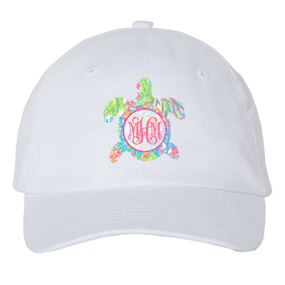 Girls Monogrammed Lilly Sea Turtle Unstructured Cap