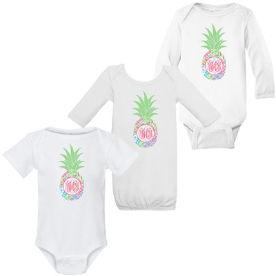 Monogrammed Infant Lilly Pineapple Graphic Shirt