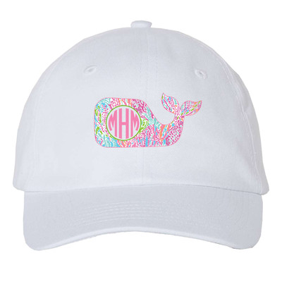 Girls Monogrammed Lilly Whale Unstructured Cap