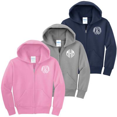 Monogrammed Infant and Toddler Full Zip Hooded Jacket
