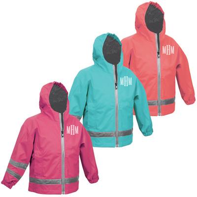 Monogrammed Toddler Rain Jacket