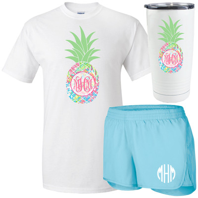 Monogrammed Lilly Pineapple Bundle