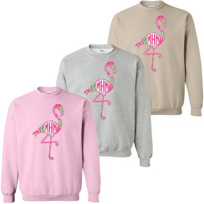 Monogrammed Lilly Flamingo Sweatshirt