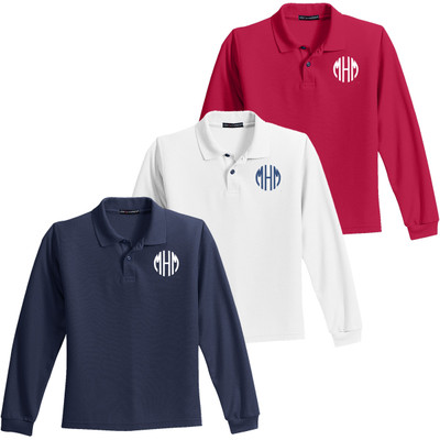 Youth Silk Touch Polo Long Sleeve
