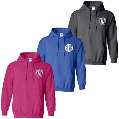 Youth Monogrammed Hooded Sweatshirt