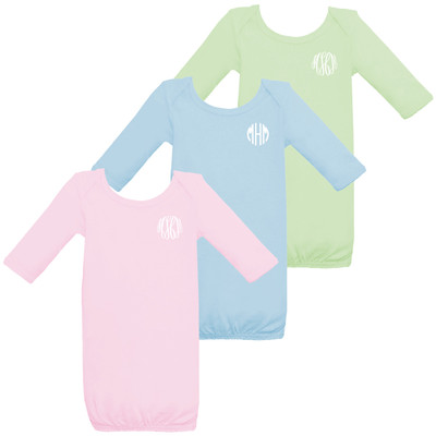 Monogrammed Infant Gown for Girls or Boys