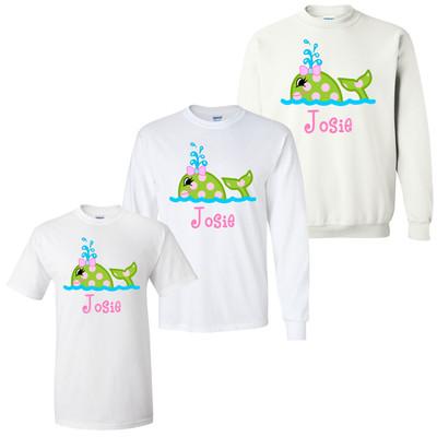Girls Monogrammed Whale Graphic Shirt