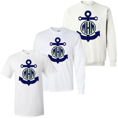 Boys Monogrammed Anchor Graphic Shirt