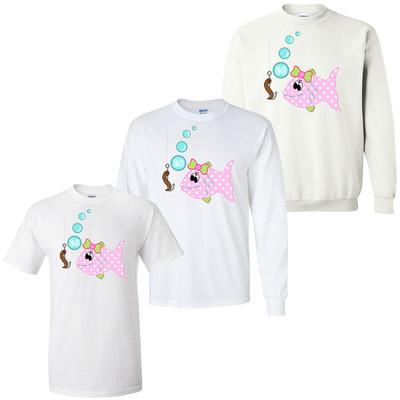 Girls Monogrammed Fish Graphic Shirt