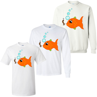 Boys Monogrammed Fish Graphic Shirt