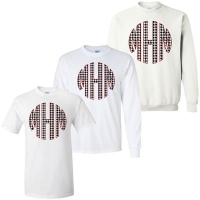 Houndstooth Monogram Graphic Shirt