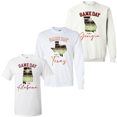 Game Day In State Graphic Shirt