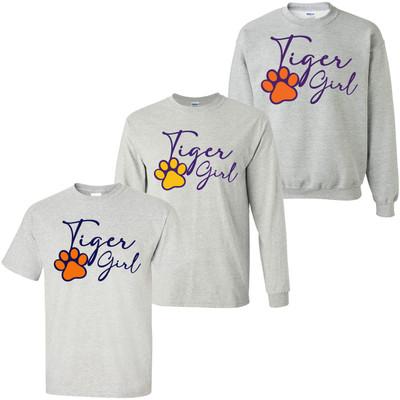 Tiger Girl Paw Print Shirt
