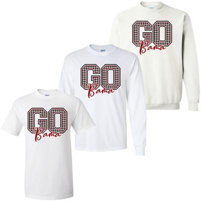 Go Bama Houndstooth Graphic Tee Shirt