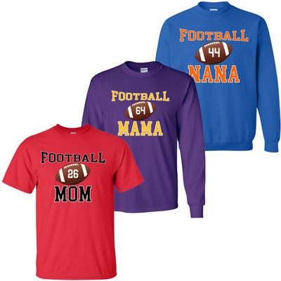 Customized Football Parent Graphic Tee Shirt