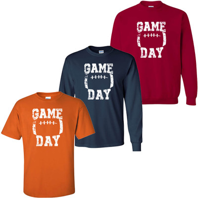 Distressed Game Day Graphic Tee Shirt