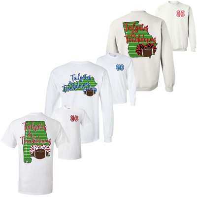 State Tailgates And Touchdowns Graphic Tee Shirt