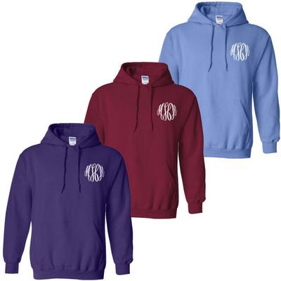 Monogrammed Football Hooded Sweatshirt