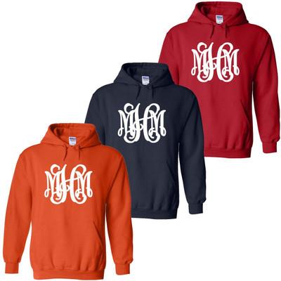 Full Monogrammed Football Hooded Sweatshirt