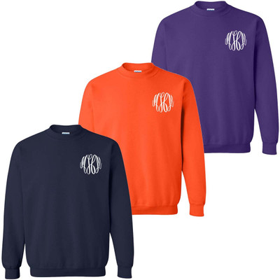 Monogrammed Football Crewneck Sweatshirt