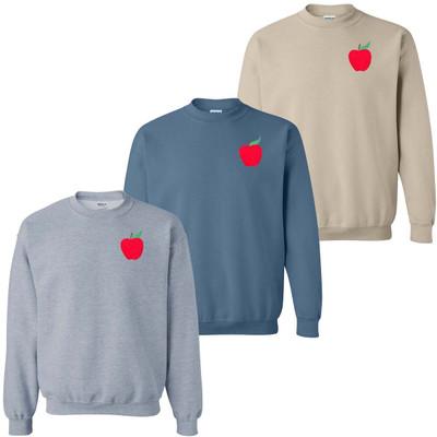 Embroidered Apple Sweatshirt
