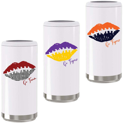 Customized Football Lips Stainless Steel Skinny Can Cooler